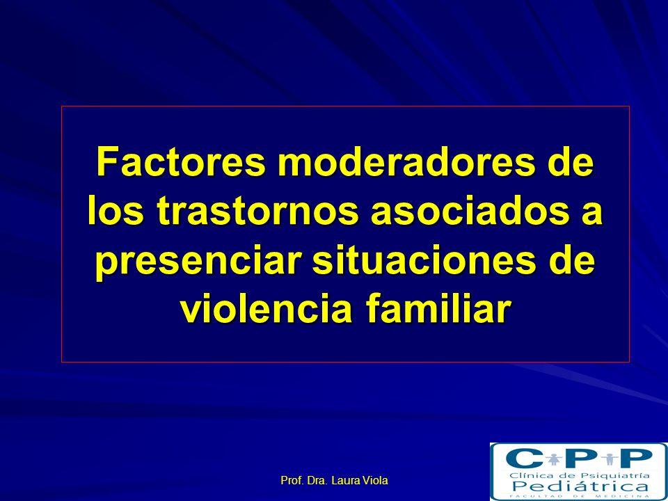 Factores moderadores de los trastornos asociados a presenciar situaciones de violencia familiar