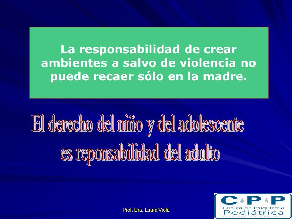 El derecho del niño y del adolescente es reponsabilidad del adulto