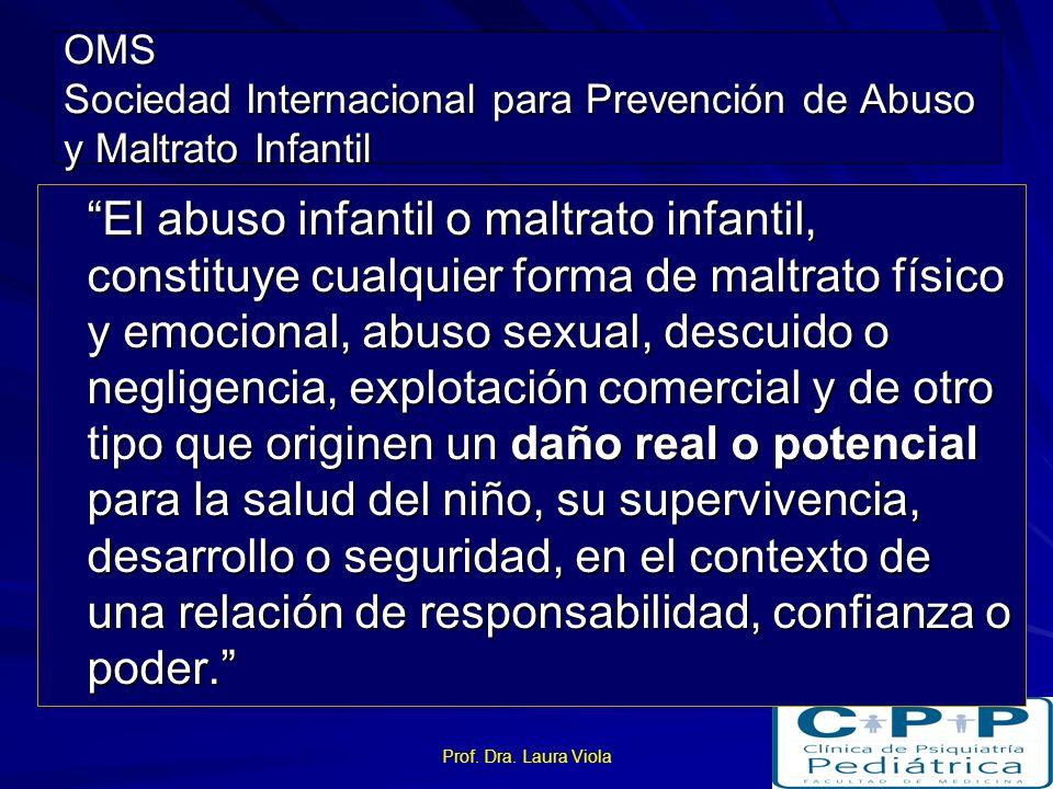 OMS Sociedad Internacional para Prevención de Abuso y Maltrato Infantil