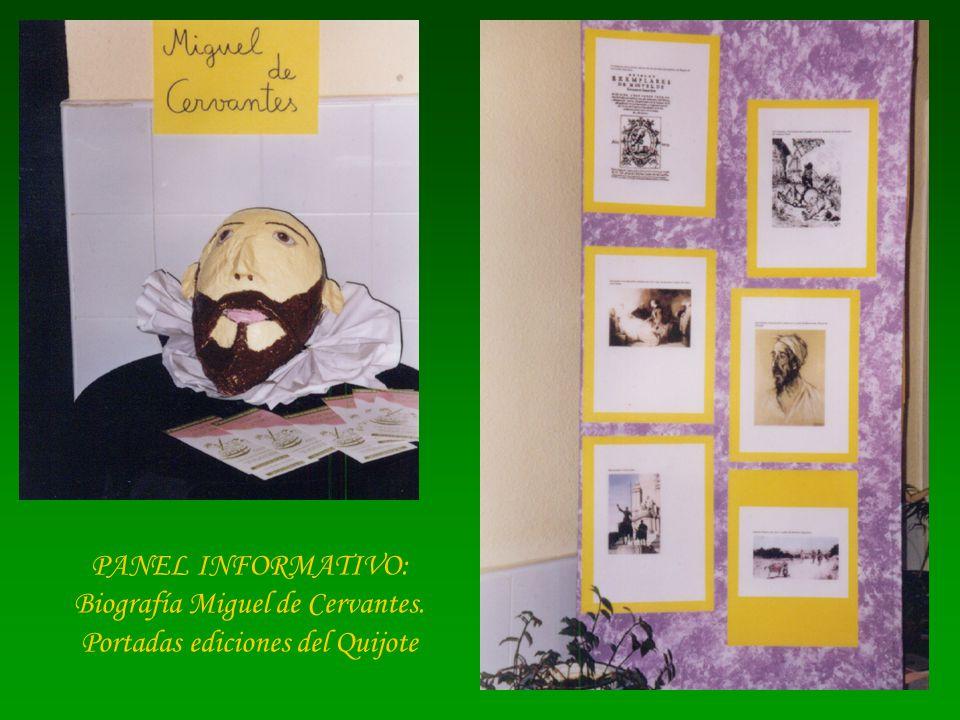 Biografía Miguel de Cervantes. Portadas ediciones del Quijote