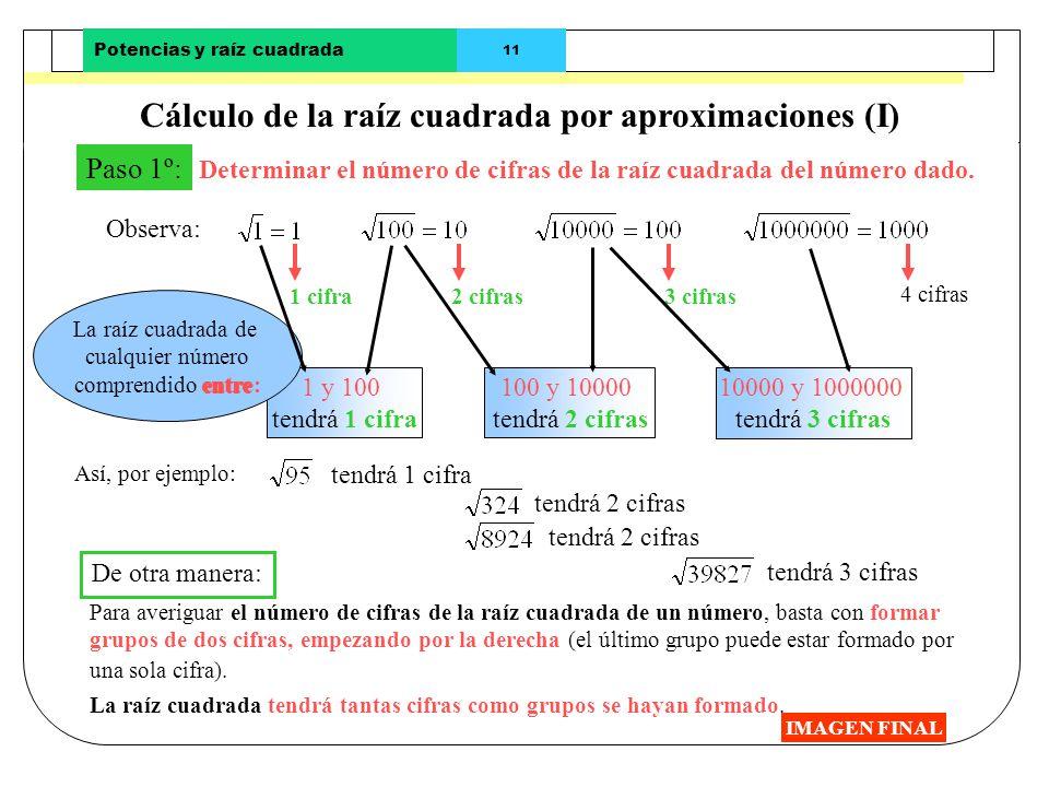 Cálculo de la raíz cuadrada por aproximaciones (I)