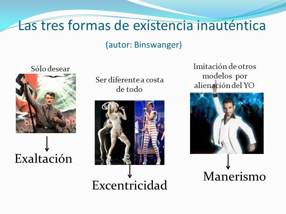 Las tres formas de existencia inauténtica (autor: Binswanger)