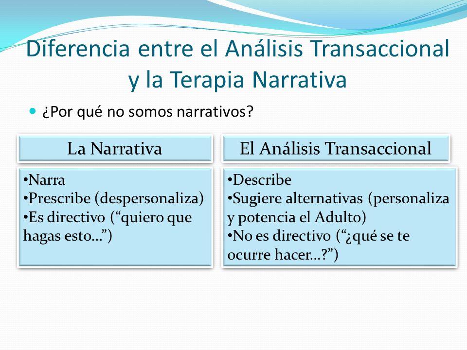 Diferencia entre el Análisis Transaccional y la Terapia Narrativa