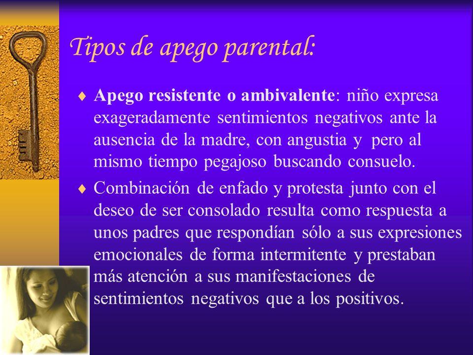 Tipos de apego parental: