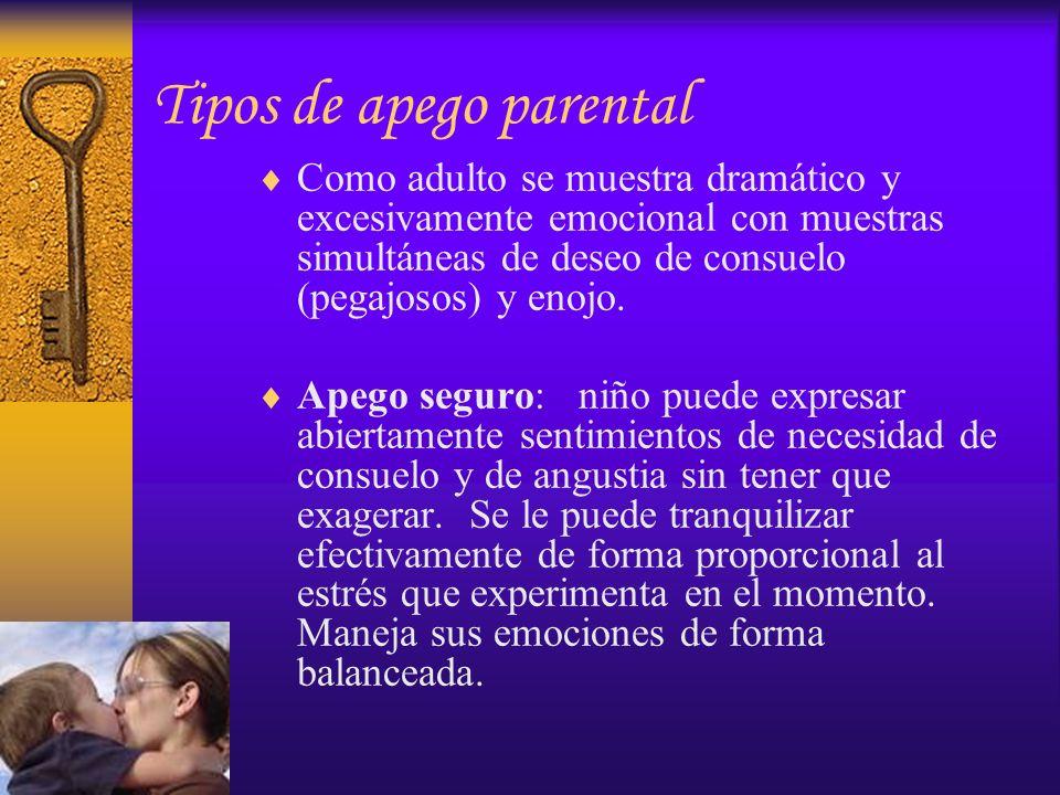 Tipos de apego parental