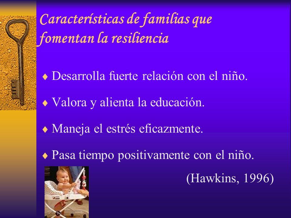 Características de familias que fomentan la resiliencia