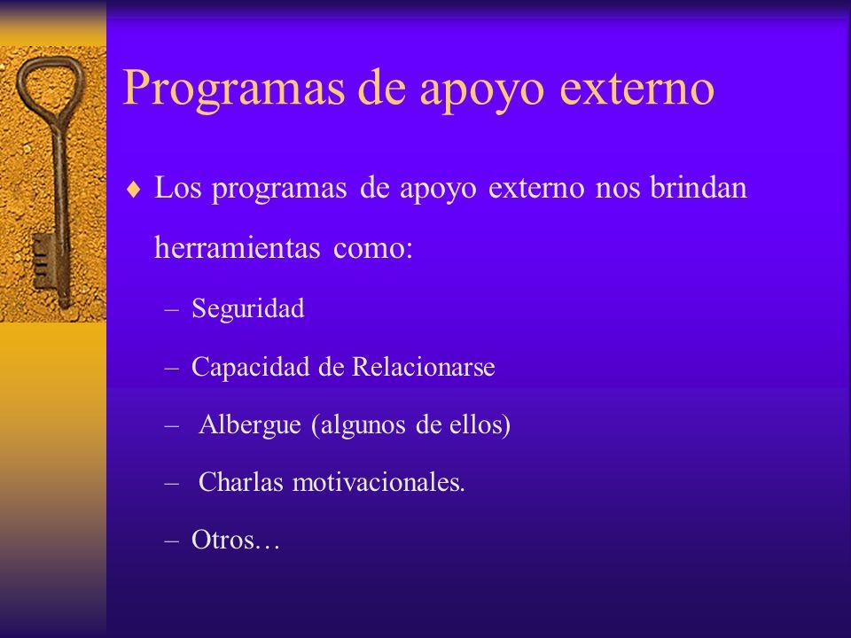Programas de apoyo externo