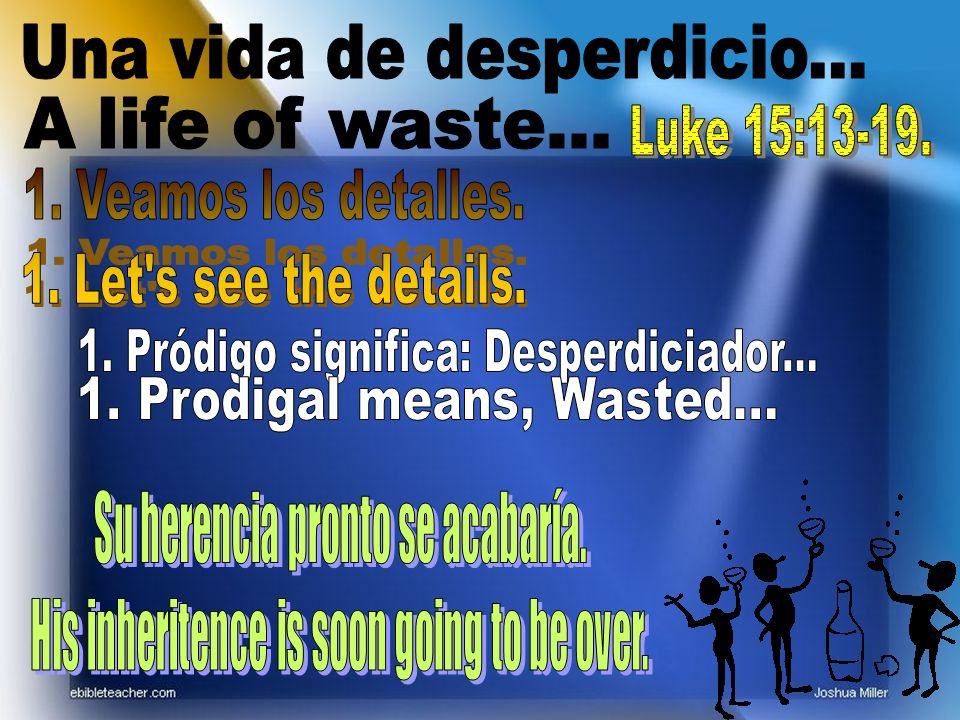 Una vida de desperdicio...