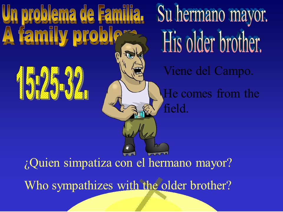 Un problema de Familia. A family problem. His older brother.