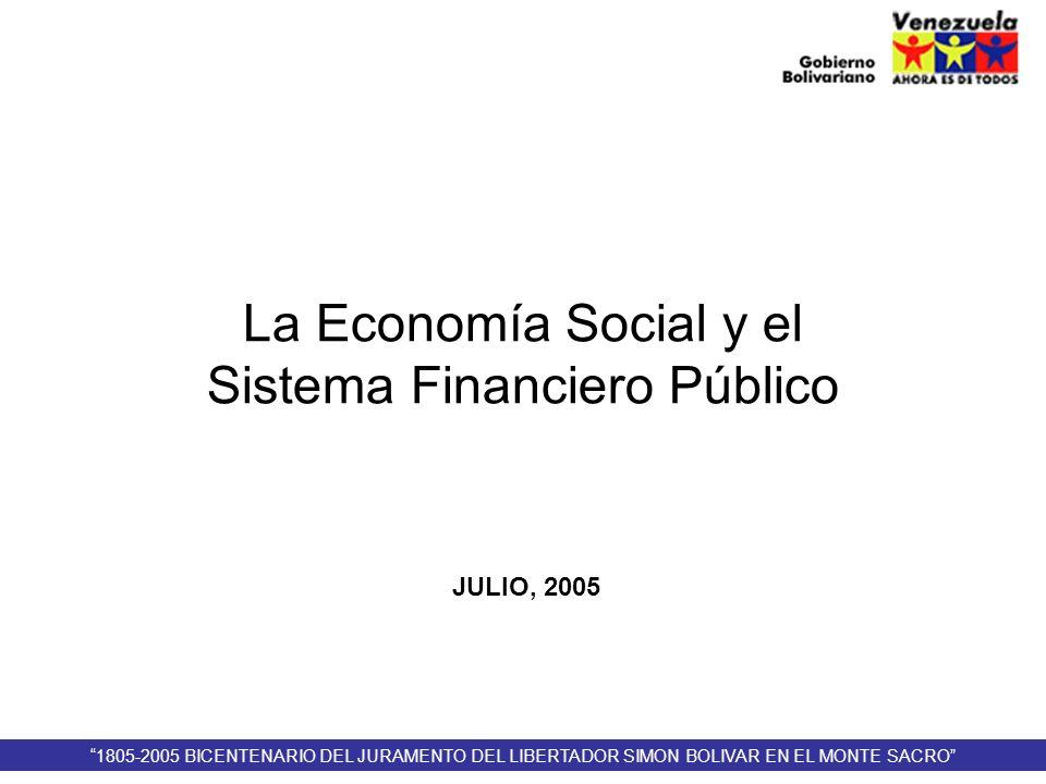 La Economía Social y el Sistema Financiero Público