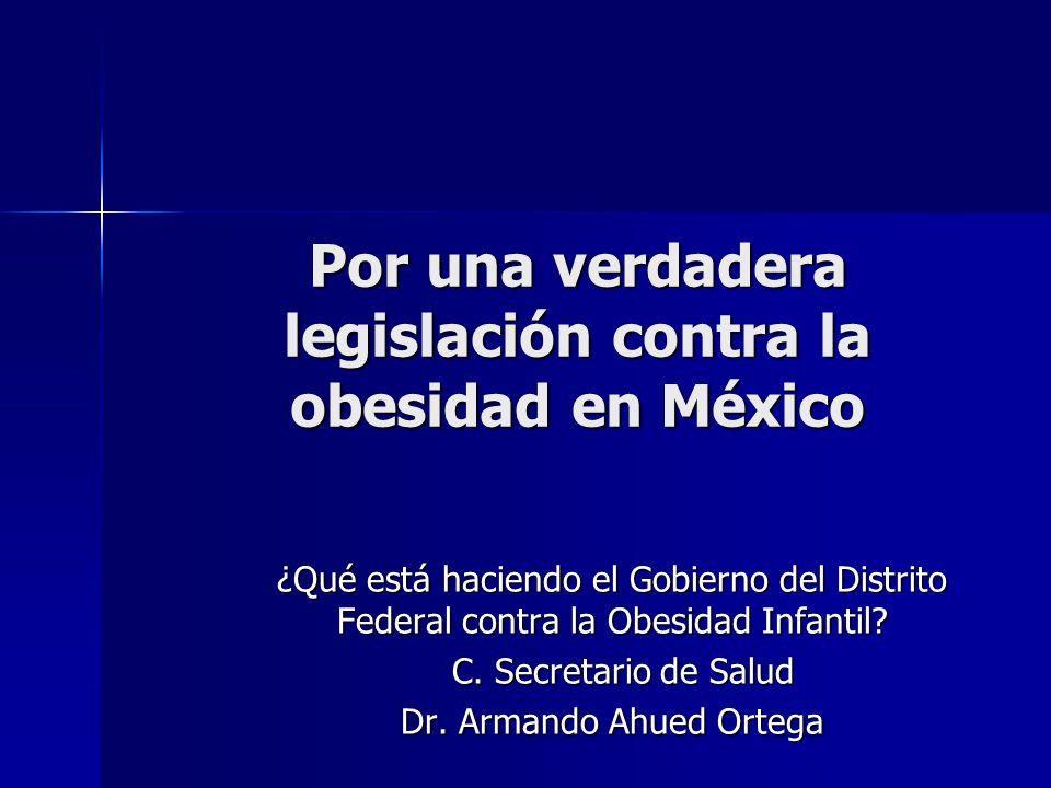 Por una verdadera legislación contra la obesidad en México