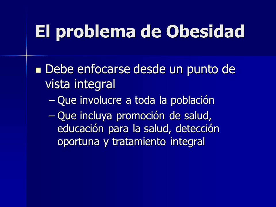El problema de Obesidad