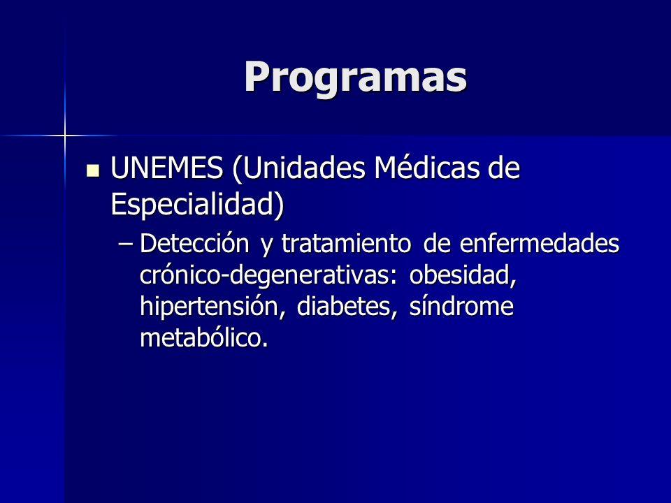 Programas UNEMES (Unidades Médicas de Especialidad)