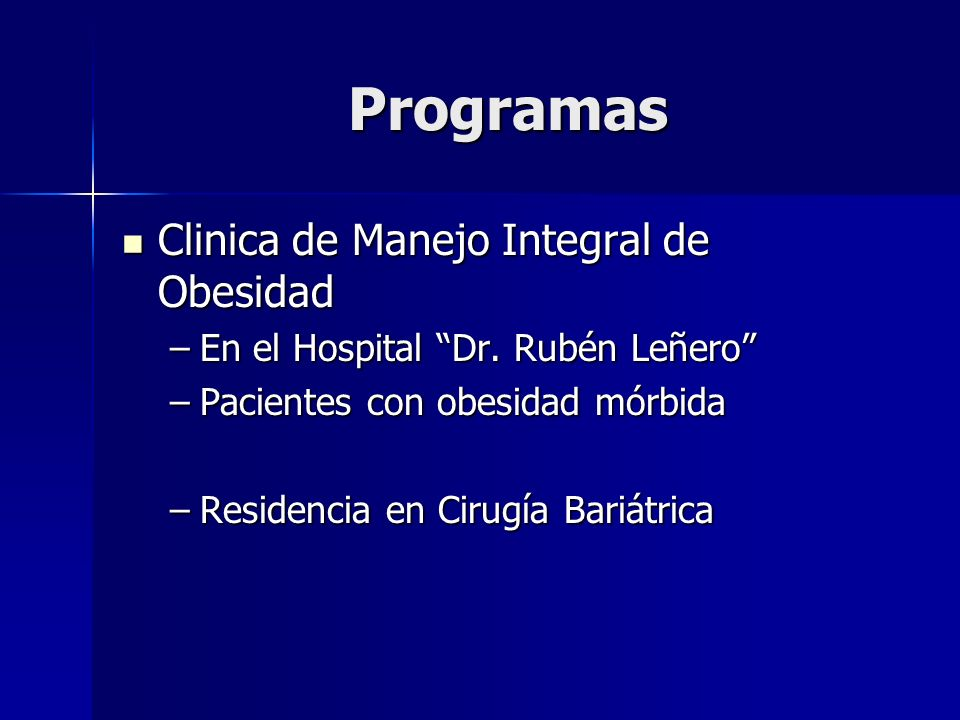 Programas Clinica de Manejo Integral de Obesidad