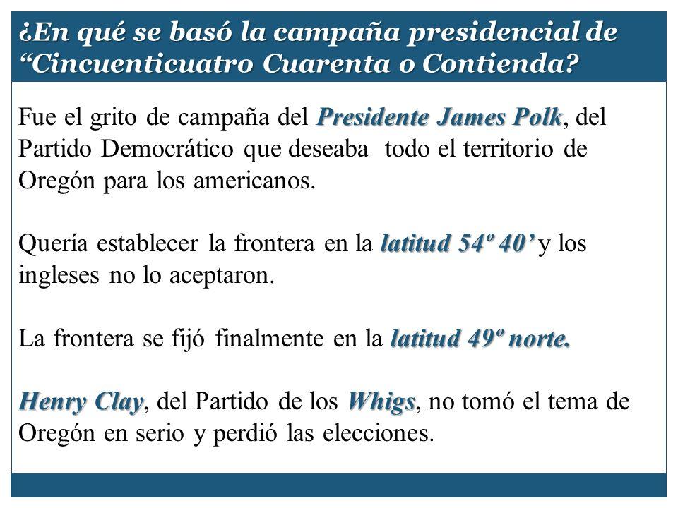 ¿En qué se basó la campaña presidencial de Cincuenticuatro Cuarenta o Contienda