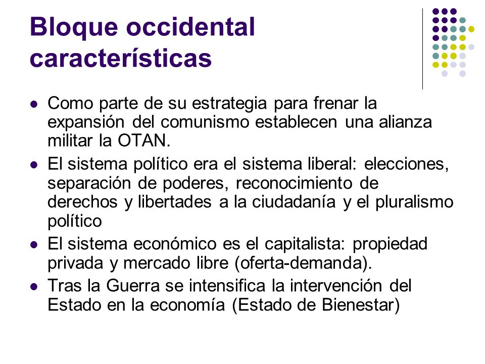 Bloque occidental características