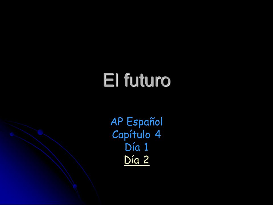 AP Español Capítulo 4 Día 1 Día 2