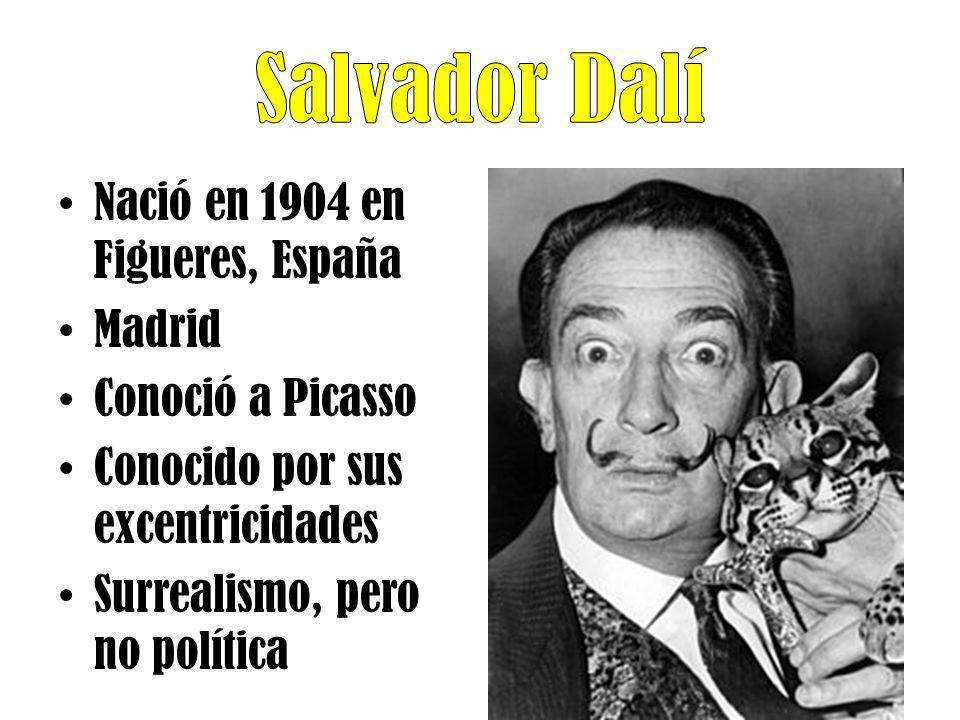 Salvador Dalí Nació en 1904 en Figueres, España Madrid