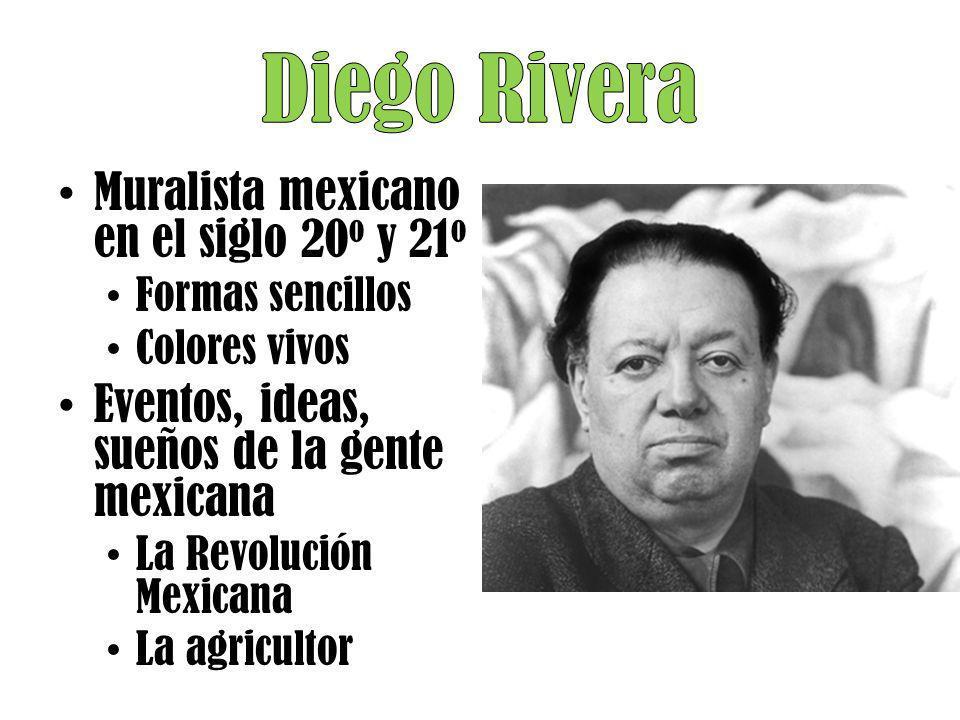 Diego Rivera Muralista mexicano en el siglo 20o y 21o