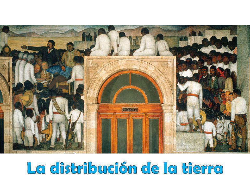 La distribución de la tierra