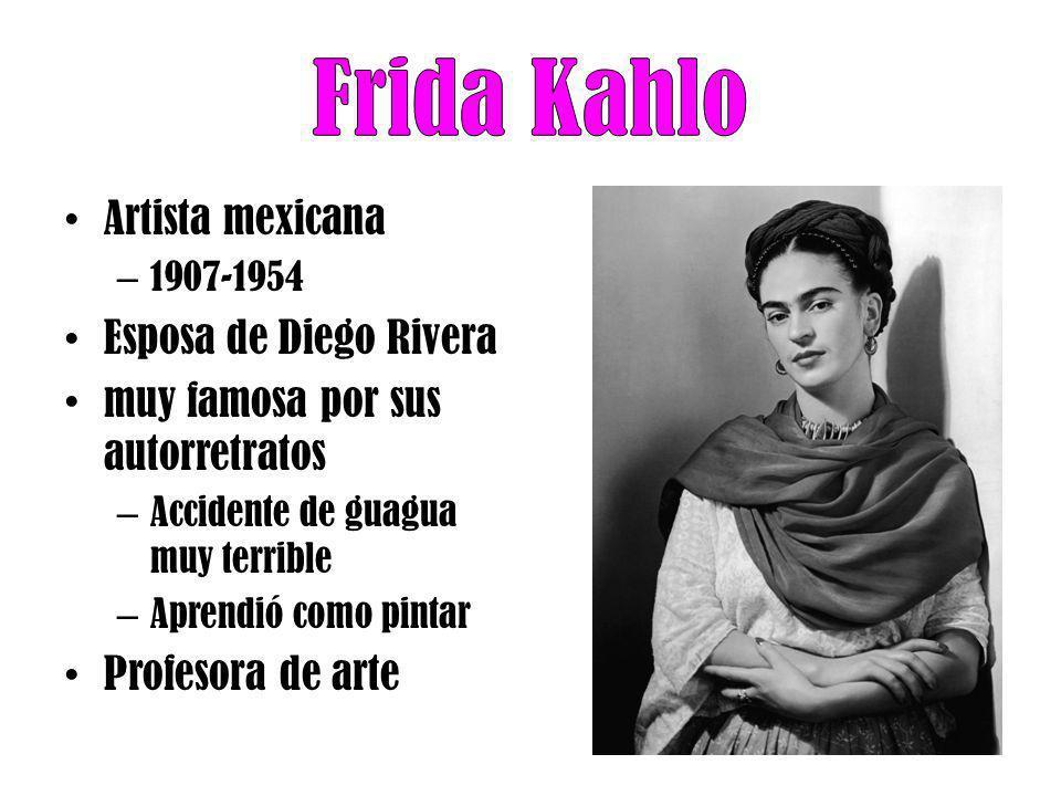 Frida Kahlo Artista mexicana Esposa de Diego Rivera