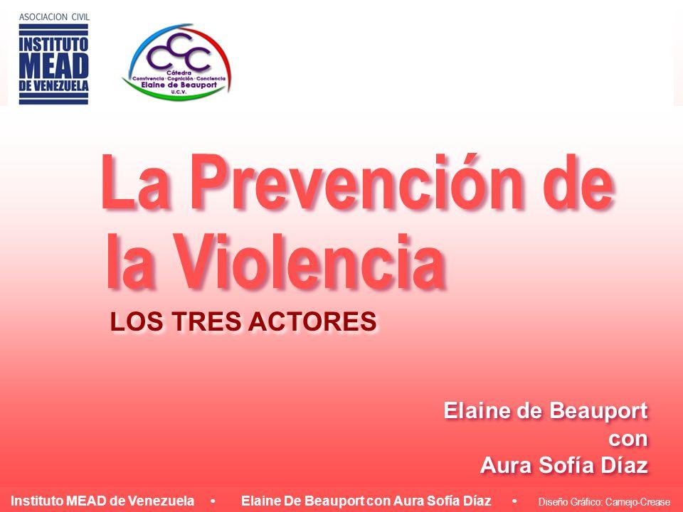 La Prevención de la Violencia LOS TRES ACTORES Elaine de Beauport con