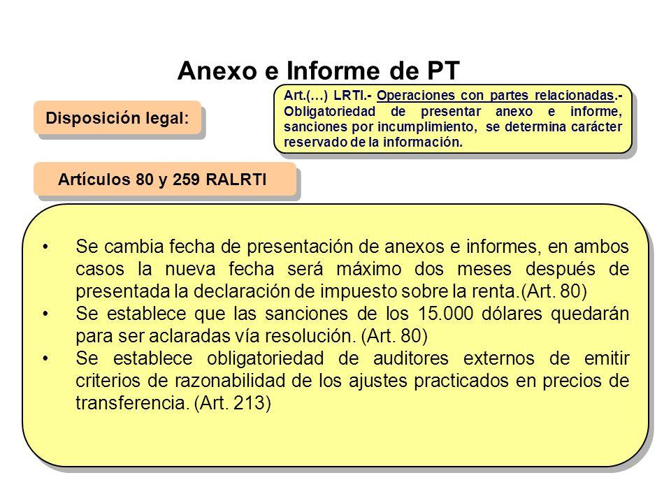 Anexo e Informe de PT