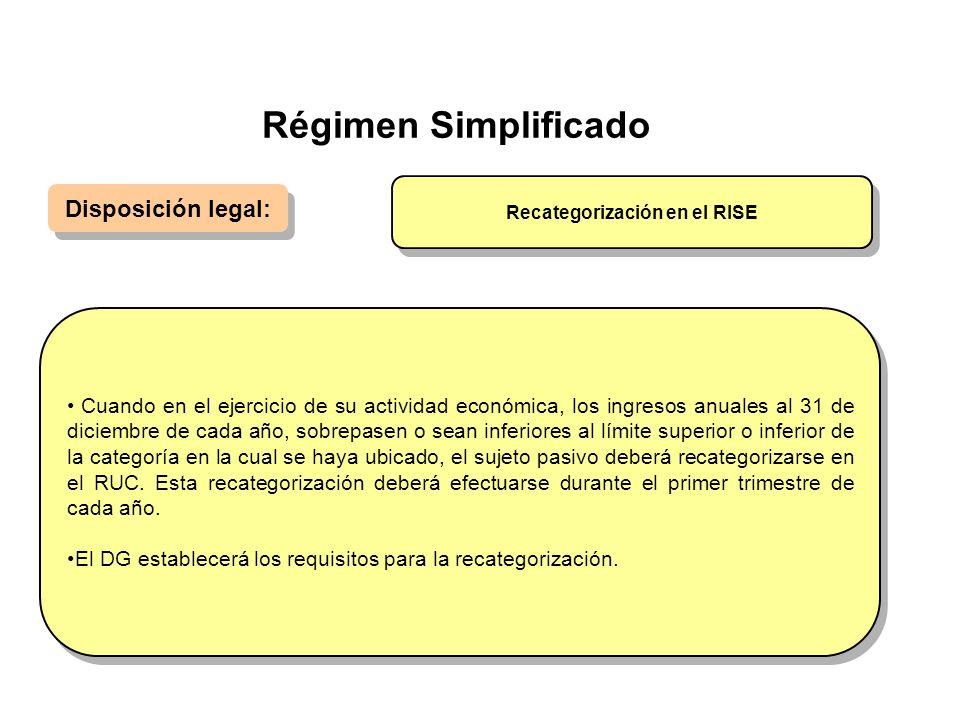 Recategorización en el RISE