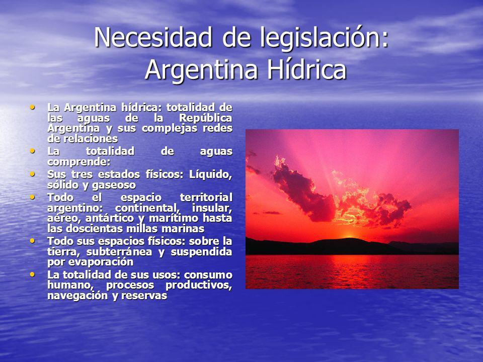 Necesidad de legislación: Argentina Hídrica
