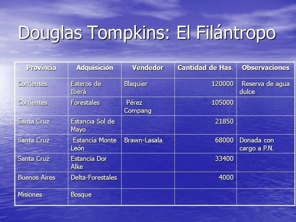 Douglas Tompkins: El Filántropo