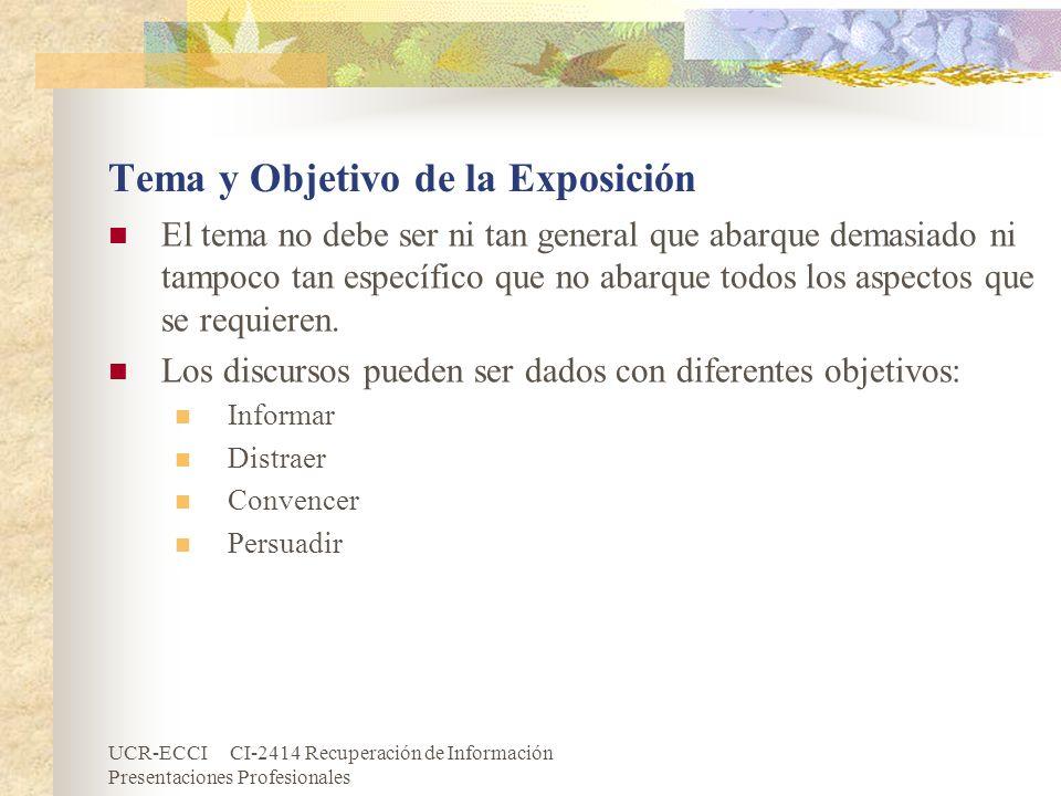 Tema y Objetivo de la Exposición
