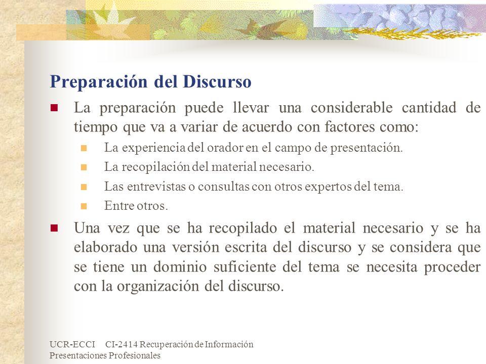 Preparación del Discurso