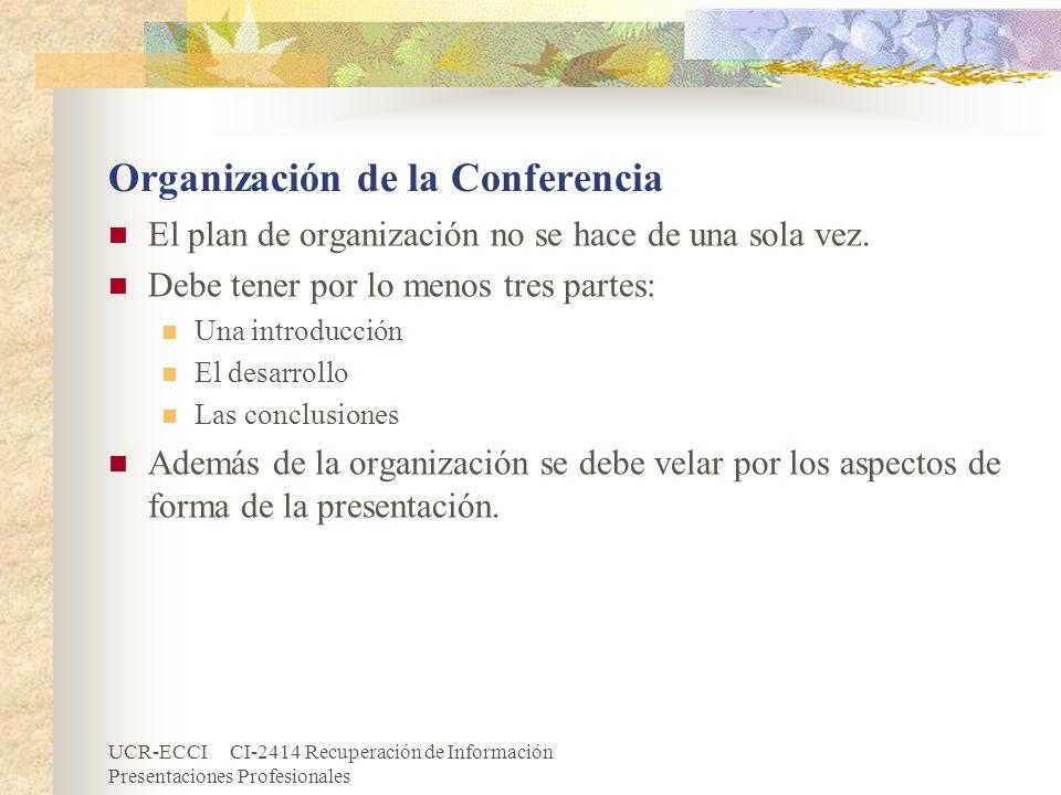 Organización de la Conferencia