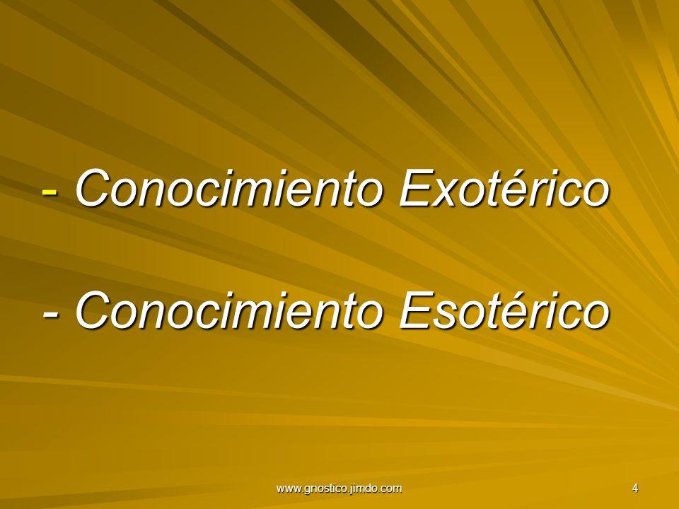 Conocimiento Exotérico - Conocimiento Esotérico