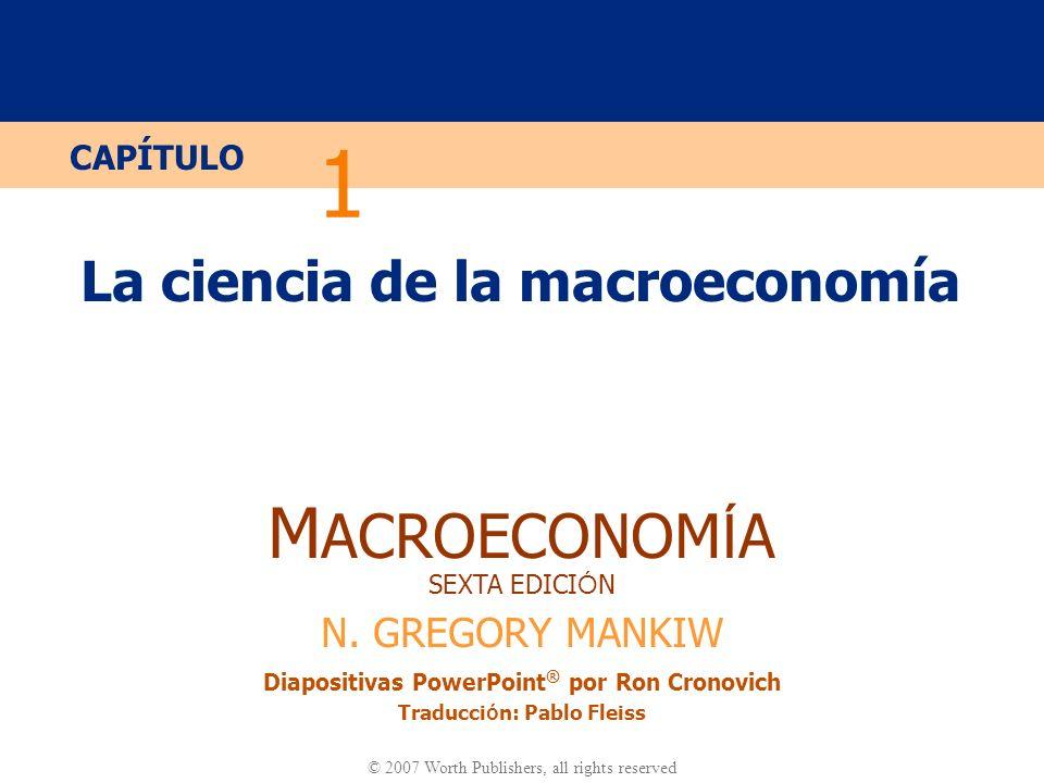 La ciencia de la macroeconomía