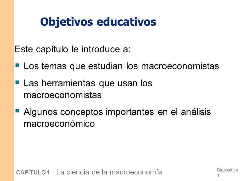 Objetivos educativos Este capítulo le introduce a: