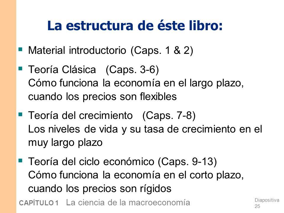 La estructura de éste libro:
