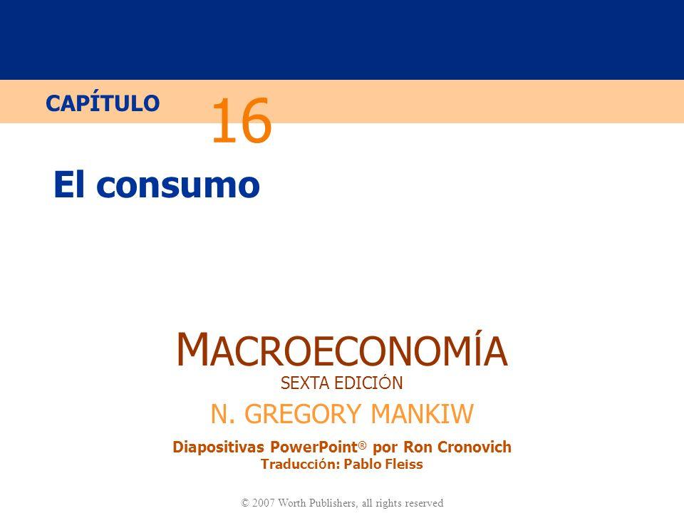 16 El consumo.