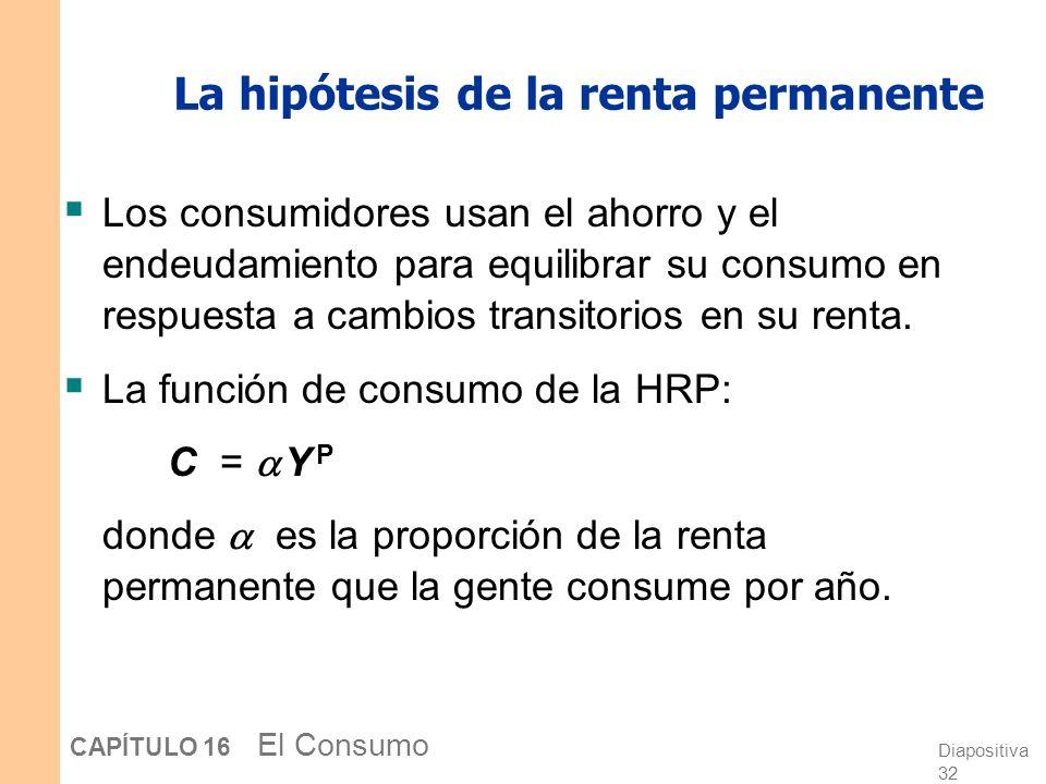 La hipótesis de la renta permanente