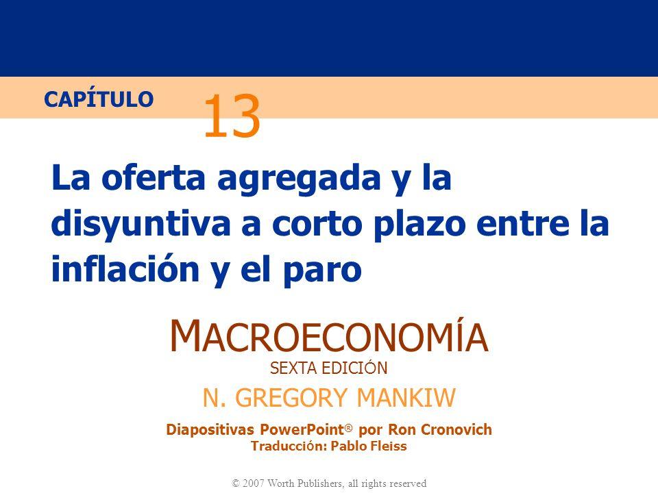 13 La oferta agregada y la disyuntiva a corto plazo entre la inflación y el paro.
