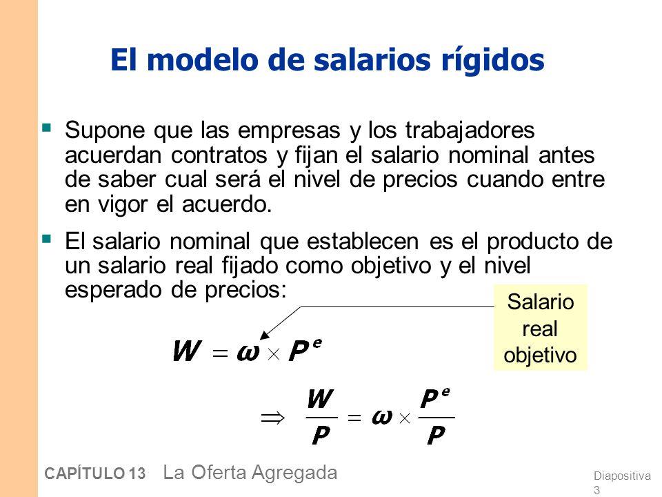 El modelo de salarios rígidos