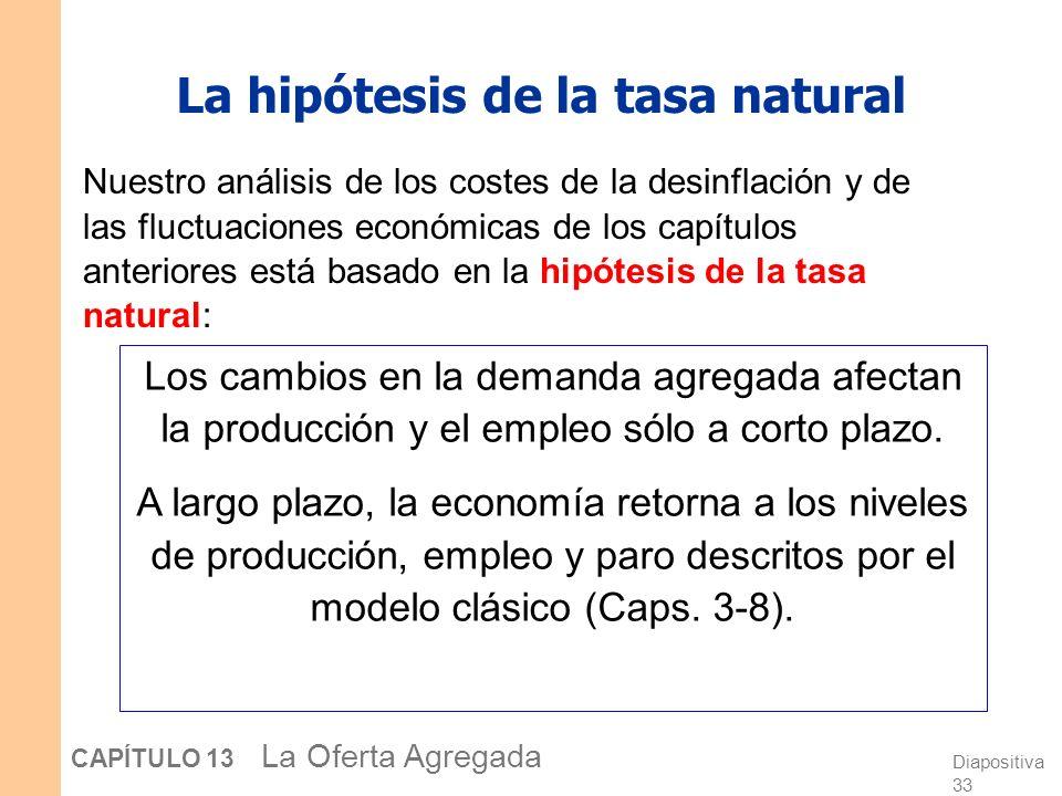 La hipótesis de la tasa natural