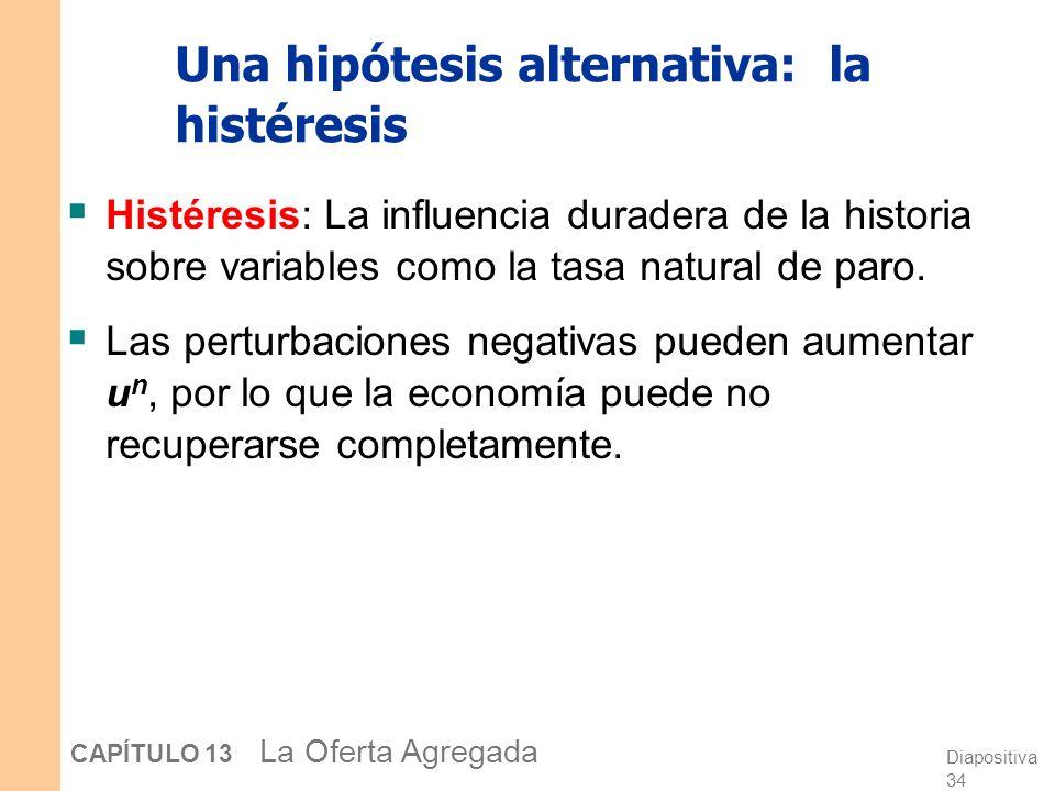 Una hipótesis alternativa: la histéresis