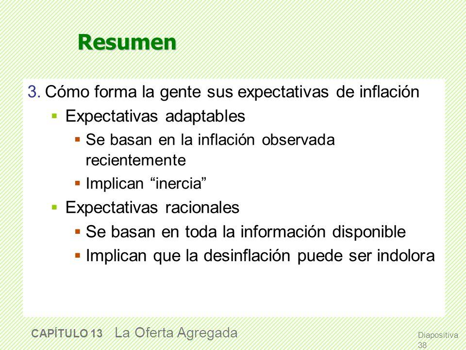 Resumen 3. Cómo forma la gente sus expectativas de inflación