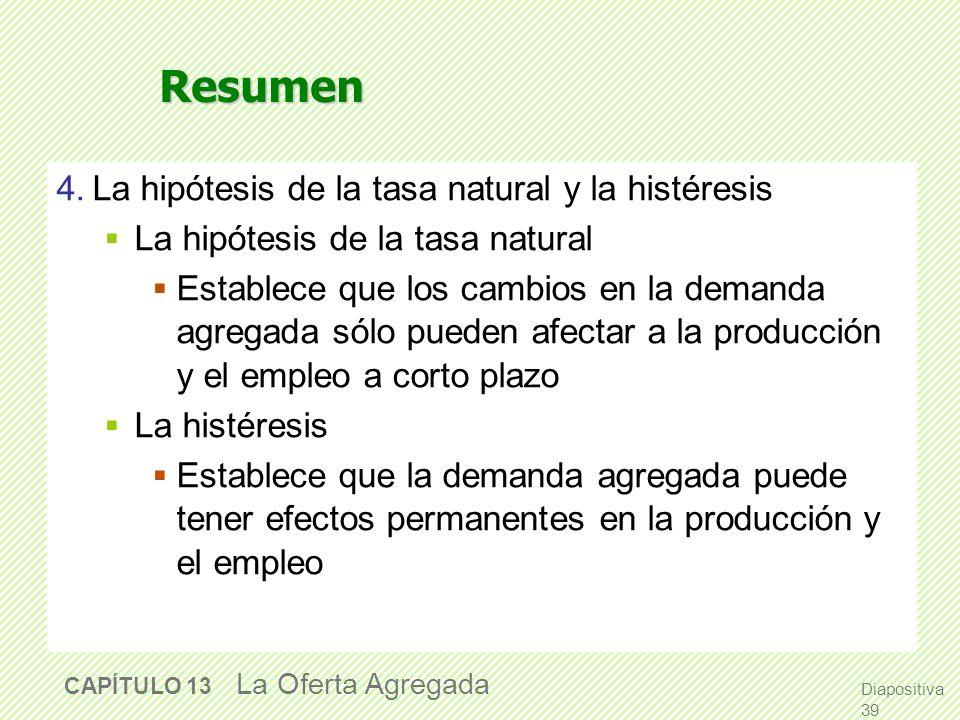 Resumen 4. La hipótesis de la tasa natural y la histéresis
