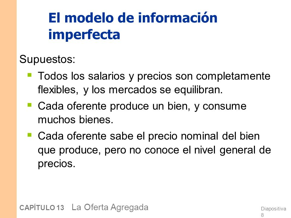 El modelo de información imperfecta