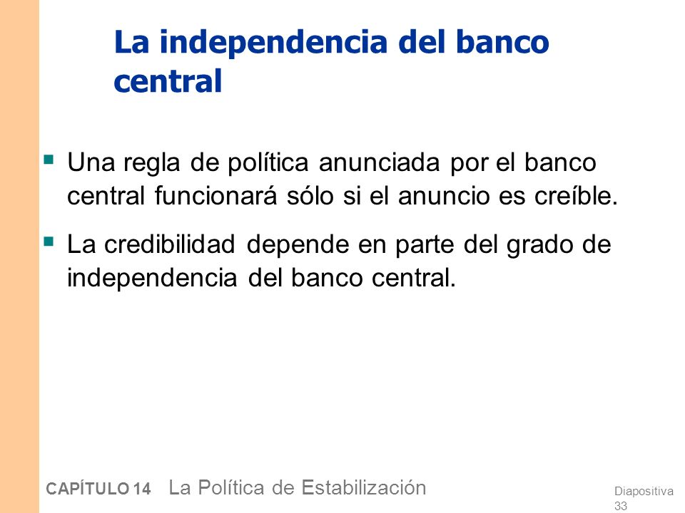 La independencia del banco central