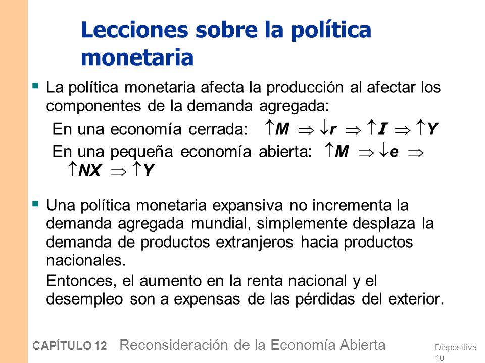 Lecciones sobre la política monetaria