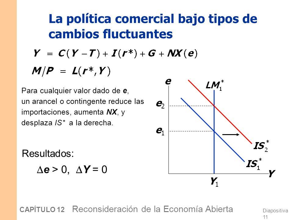 La política comercial bajo tipos de cambios fluctuantes