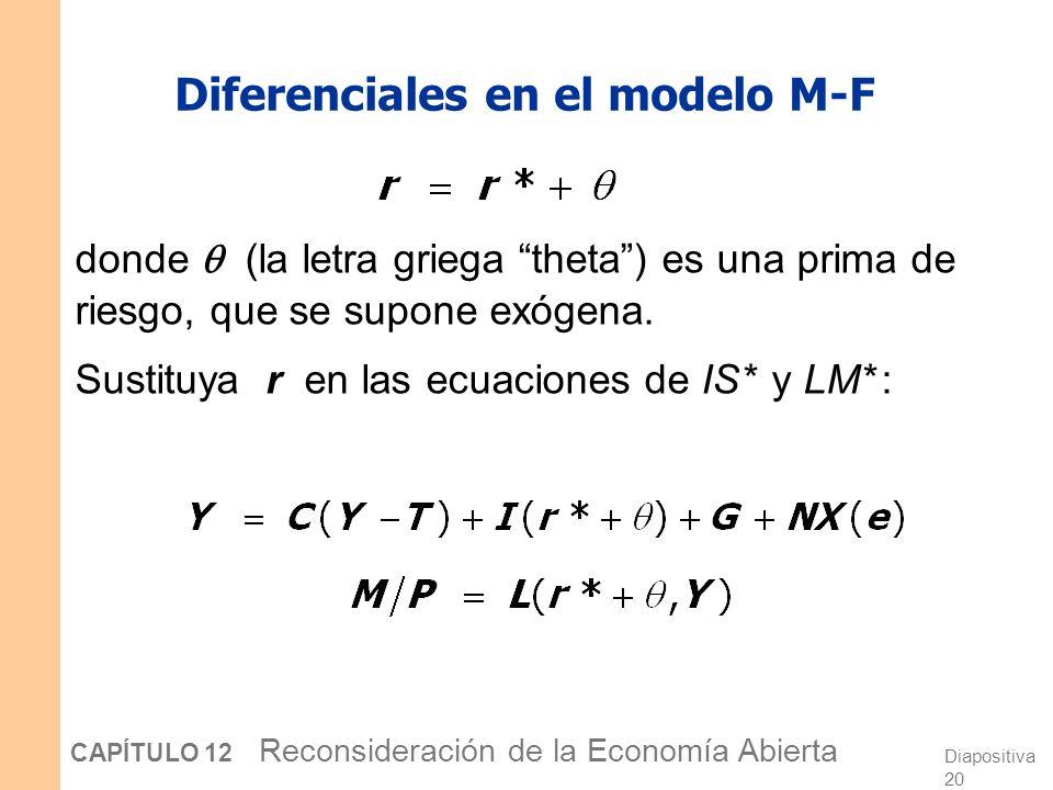 Diferenciales en el modelo M-F